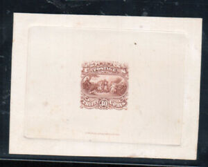 USA #121-E1a Very Fine Burgoyne Essay In Red Brown Die On India With Imprint