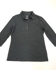 cutter & buck gray 3/4 sleeve V neck Dry tech 50+ upf Golf Athletic shirt Size M