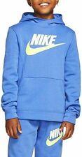 Boys Nike Fleece Hoodie Light Blue Neon Swoosh - X-Large