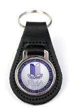 Triumph TR4A IRS Cov Logo Quality Black Leather Keyring