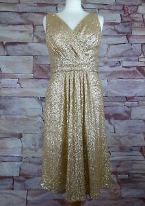 SORELLA VITA gold sequin bridesmaids dress size 14 party prom wedding cruise