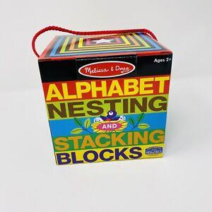 Melissa & Doug Developmental Alphabet Nesting Stacking Blocks Toys Kids Toddlers