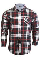 Brave Soul  Men's Enrico  Heavy Brushed Check Shirt - Long Sleeved