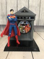 "Justice League Alarm Clock Coin / Piggy / Penny Bank Superman, 8"" Tall"