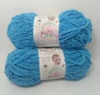 Lion Yarns Baby Soft Boucle Bulky 5 Aqua Two Skeins 120 Yards Bright and So Soft