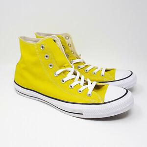NEW Converse Chuck Taylor All Star Hi High Yellow Shoe Sneaker Men's Size 12 US