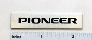 Pioneer Spec Rack Badge Logo Custom Made Aluminum Free Shipping