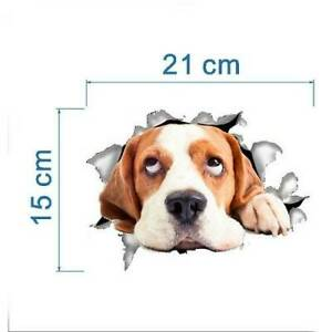 New Animal Cat Or Dog 3D Vinal Stickers For Wall Or Bathroom Toilet lid Home Dec