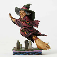 Jim Shore Pint Sized Halloween Flying Witch Figurine ~ Every Witch Way ~ 4053867