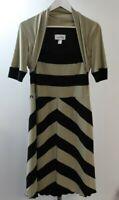 Joseph Ribkoff Dress Beige & Black UK Size 12. WIGR8
