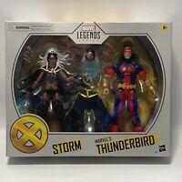 "NEW Marvel Legends STORM & THUNDERBIRD 2 Pack  6"" Figures Target Exclusive"
