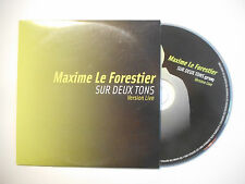 MAXIME LE FORESTIER : SUR DEUX TONS ( VERSION LIVE ) ♦ CD SINGLE PORT GRATUIT ♦