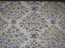 "SANDERSON CURTAIN FABRIC DESIGN ""Ottoman Flowers"" 1.2  METRES CHARCOAL/LINDEN"
