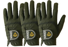 Onyx Mens Premium LH Golf Gloves 3 Pack All Weather Size Left Hand Medium Black