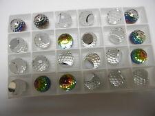 8 swarovski crystal 3/4 flatback disco balls,14mm vitrail medium Z #4869
