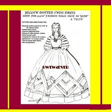GENE TYLER BARBIE Pattern SUELLEN'S Yellow Dotted Swiss Dress GONE WITH THE WIND