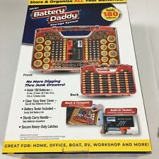 Battery Daddy Compac Organizer Storage Case Tester Set Double Sided Holder Heavy