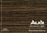 3584AU Audi Super 90 Bedienungsanleitung 1967 Originale Betriebsanleitung manual