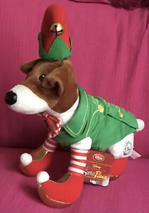 "Rare Disney Store Santa Paws Eddy The Elf Dog Soft Plush Film Toy 14"" With Tag"