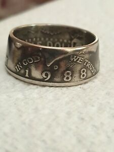 Coin Ring half dollar 1988 Size U -other sizes available