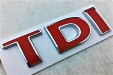 Red Silver TDI Badge Emblem Decal car Sticker for VW Golf JETTA PASSAT MK4 MK5