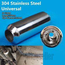"""Chrome Stainless Steel 51mm/2"""" Car Exhaust Muffler Silencer Tornado Trim"""