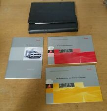 AUDI A3 8P propietarios Manual De Cuero Negro Billetera Soporte + Manuales #oc2