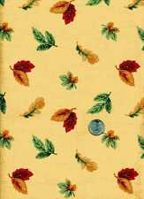 FALL LEAVES AUTUMN INDIAN SUMMER LEAF COLORS COTTON FABRIC SOLD BY THE YARD