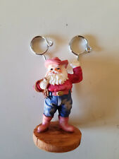 Cowboy Santa Dual Picture Holder - Cowboy Hat & Rope - Christmas Holiday