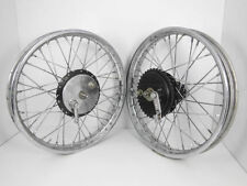 "VINTAGE 19"" FRONT REAR HALF WIDTH HUB WHEEL RIM ASSEMBLY ROYAL ENFIELD BIKES BSA"