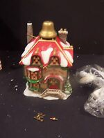 """Department 56 North Pole Series """"Ulysses The Christmas Bell Maker"""" Village House"""