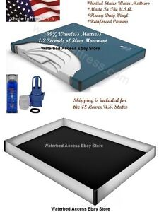 California King Waveless Waterbed Mattress with 12 Mil Safety Liner