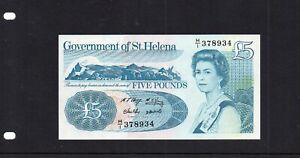 BRITISH COMMONWEALTH  St HELENA 2012  £5  NOTE PREFIX  H/1 378934 UNC