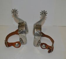 Vintage boot spurs country western decor