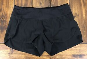 Lululemon Run Speed Short Naked Seam Size 4 Lined Black
