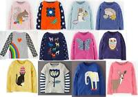 Mini Boden top girls applique long sleeve  new age 1 - 12 years shirt cotton