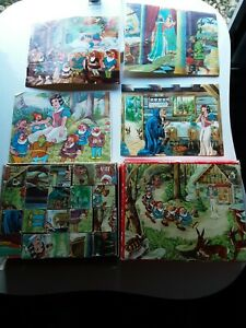 VINTAGE WOODEN 6 SIDED JIGSAW PUZZLE COMPLETE GOOD CONDITION.