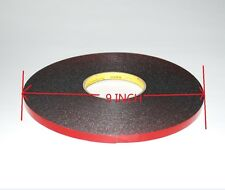 10mm 30M Black Strong  Black Adhesive Double Sided Foam Tape Car Trim Plate A158