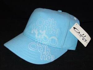 Too Cute! New Licensed Oakley Retro Womens  Fashion Hat Blue Size M/L ___B133