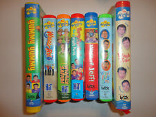 The WIGGLES (7) VHS Movie LOT Wiggle Bay WIGGLY SAFARI Wiggle Time HOOP DEE DOO!