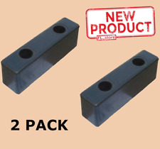 2 Pack Loading Dock Bumpers Rubber Rectangular Warehouse 2-1/2 H x 2 W x 8 L New