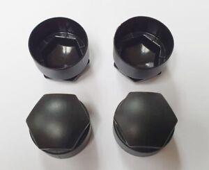 AUDI A1 A3 A4 A5 A6 Q5 ALLOY WHEEL LOCKING NUT BOLT COVERS CAPS x4 NEW BLACK