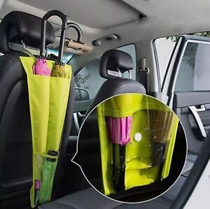 GREEN Car Seat Umbrella Storage Bag Holder Sleeve Waterproof Hanging Organiser