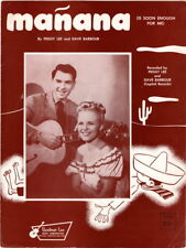 manana  Peggy Lee and Dave Barbour photo, 1948, vintage sheet music