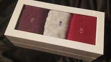 Calvin Klein 3 pair Women's Crew Socks Gift Box Red Gray Purple FREE SHIPPING!