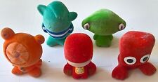Gogos - 5x Felt Covered Plastic Collectable Figures - Used Con Free Post