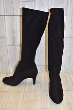 **BCBGeneration Rocko Stretch Suede Slouch Boots, Women's Size 8M, Black NEW