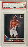 RUI HACHIMURA RATED ROOKIE 2019 DONRUSS OPTIC CARD #188 PSA GRADED 9 WIZARDS RC