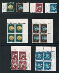 SWITZERLAND, OLYMPIC GAMES 1948 - complet Set and block stamps 1948 MNH