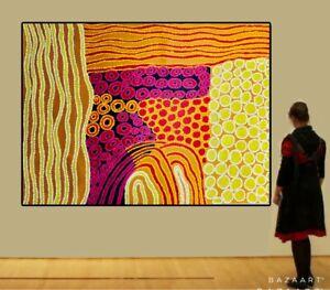 150cm By 110cm,  Original Aboriginal Style Dot Painting, Signed, Contemporary